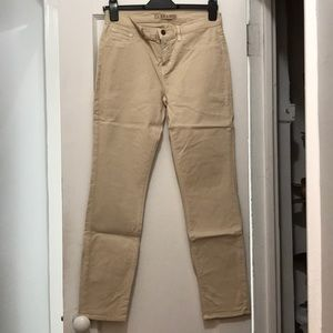 J Brand Twill Ankle Pant in Sand, Size 29